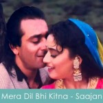 mera dil bhi kitna pagal hai lyrics - saajan 1991