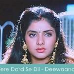 tere dard se dil lyrics - deewaana 1992