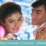 kitna haseen chehra lyrics - dilwaale 1994