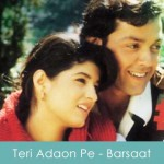 teri adaon pe lyrics - barsaat 1995