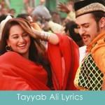 Tayyab Ali Lyrics Once Upon A Time In Mumbaai